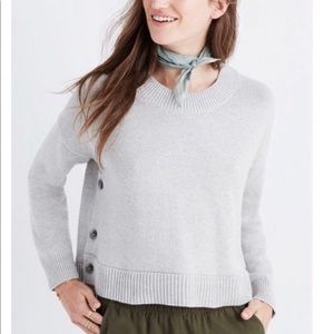 Madewell brownstone side button sweater